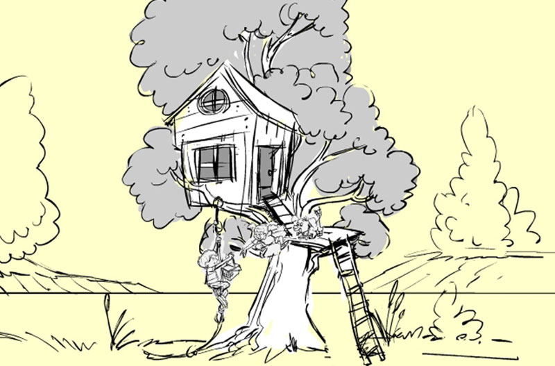 Artist's conception of the treehouse